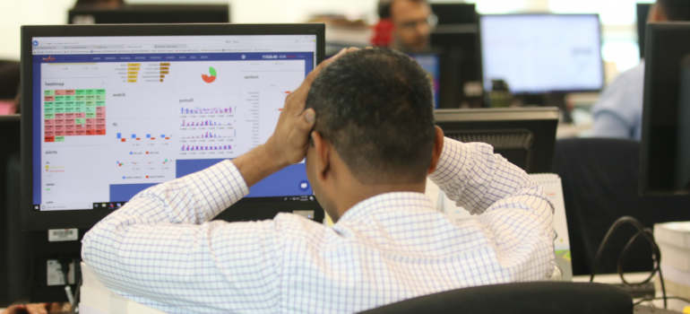 Sensex records biggest intraday fall, drops 3,304 points